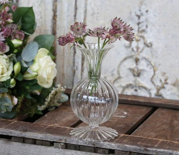 Glass Shaped Bud Vase Large