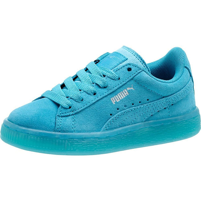 Puma Suede Classic ICED Kids Blue Atoll-Puma Silver (PS) Size 10.5 D ... 3a3890428