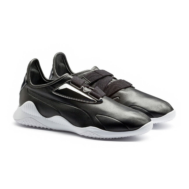 f420ba815006f7 PUMA Men s Mostro Perforated Leather Sneaker - Black White – Shoe ...