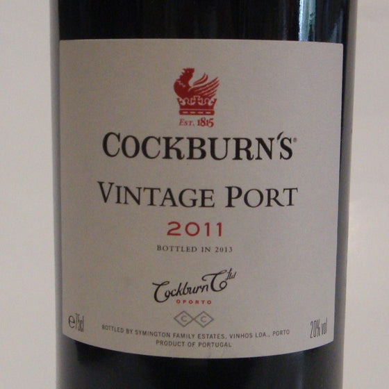 Cockburns Vintage Port  2011