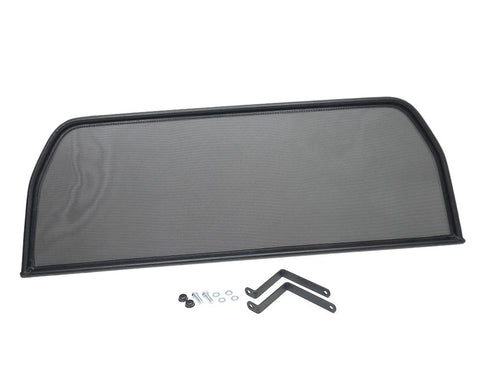 Black Wind Deflector - Mounts Behind Seats - FIAT 124 Spider Parts