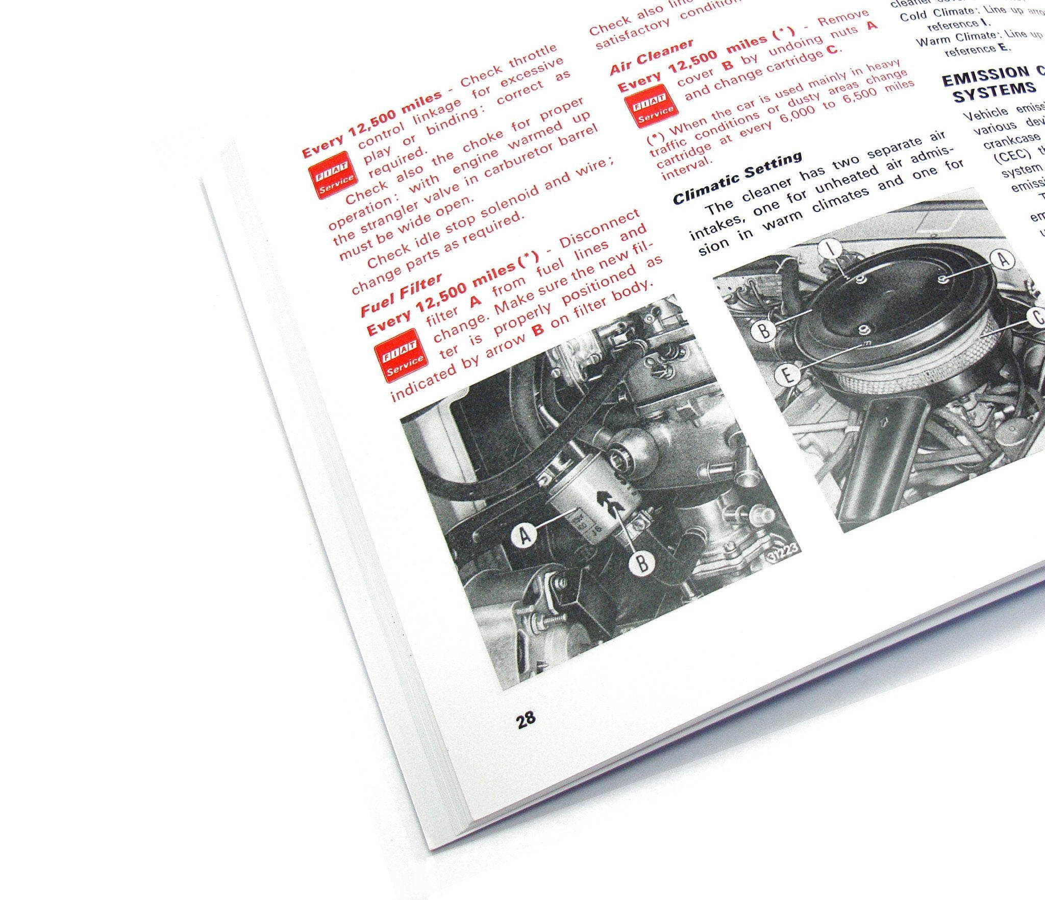 ... FIAT 124 Spider 1977 Owners Manual-1966-85 Classic Spider-[Auto Ricambi  ...