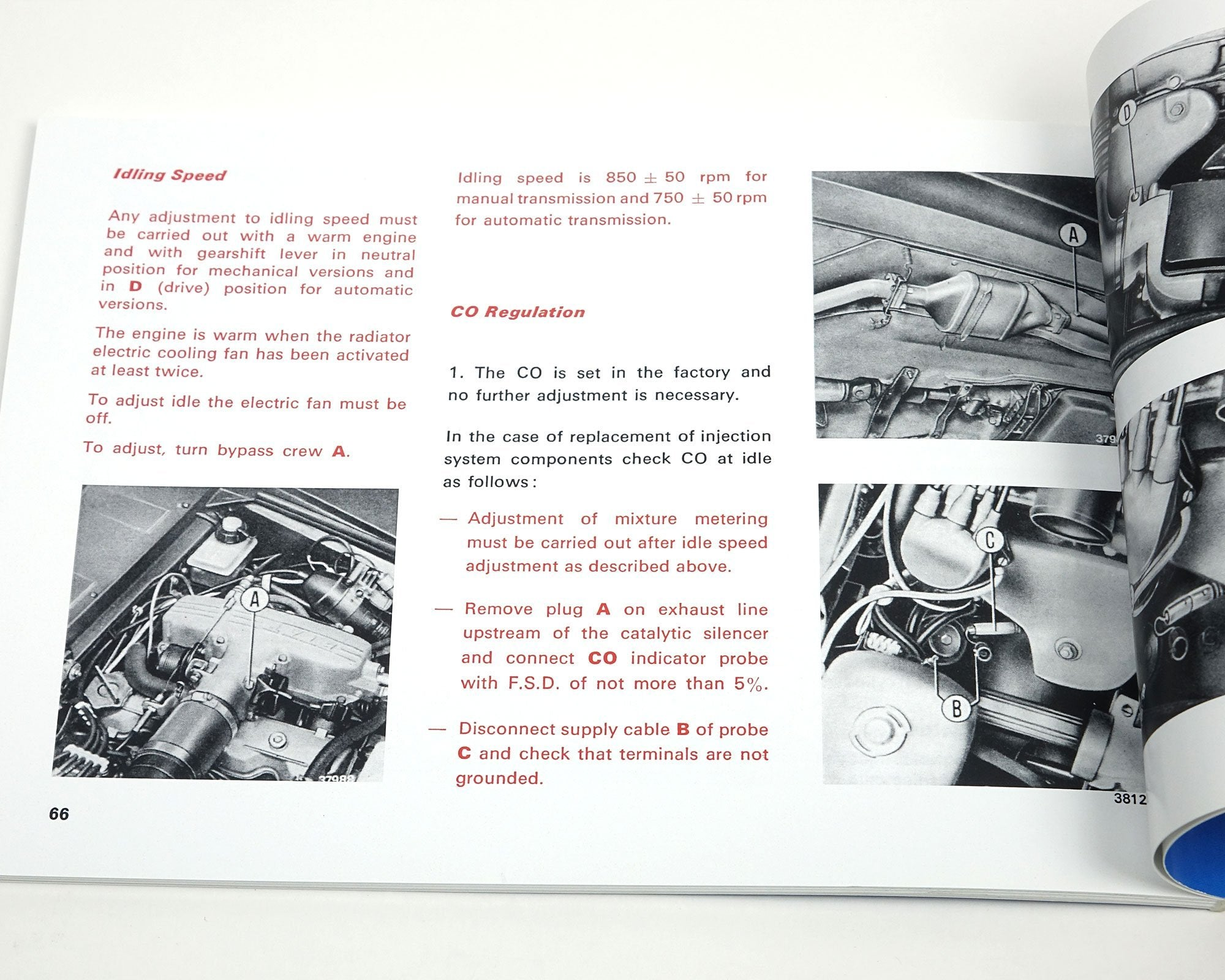 ... FIAT 124 Spider 1980 Owners Manual-1966-85 Classic Spider-[Auto Ricambi  ...