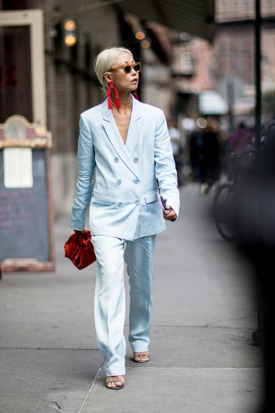Women Suiting Trend and Baby Blue Color