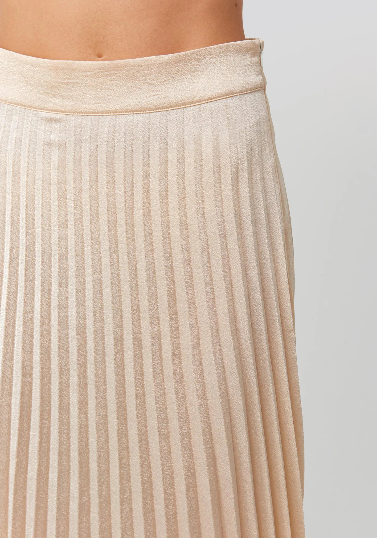 Bianca Long Skirt Light Beige - LittleCuteCorner.