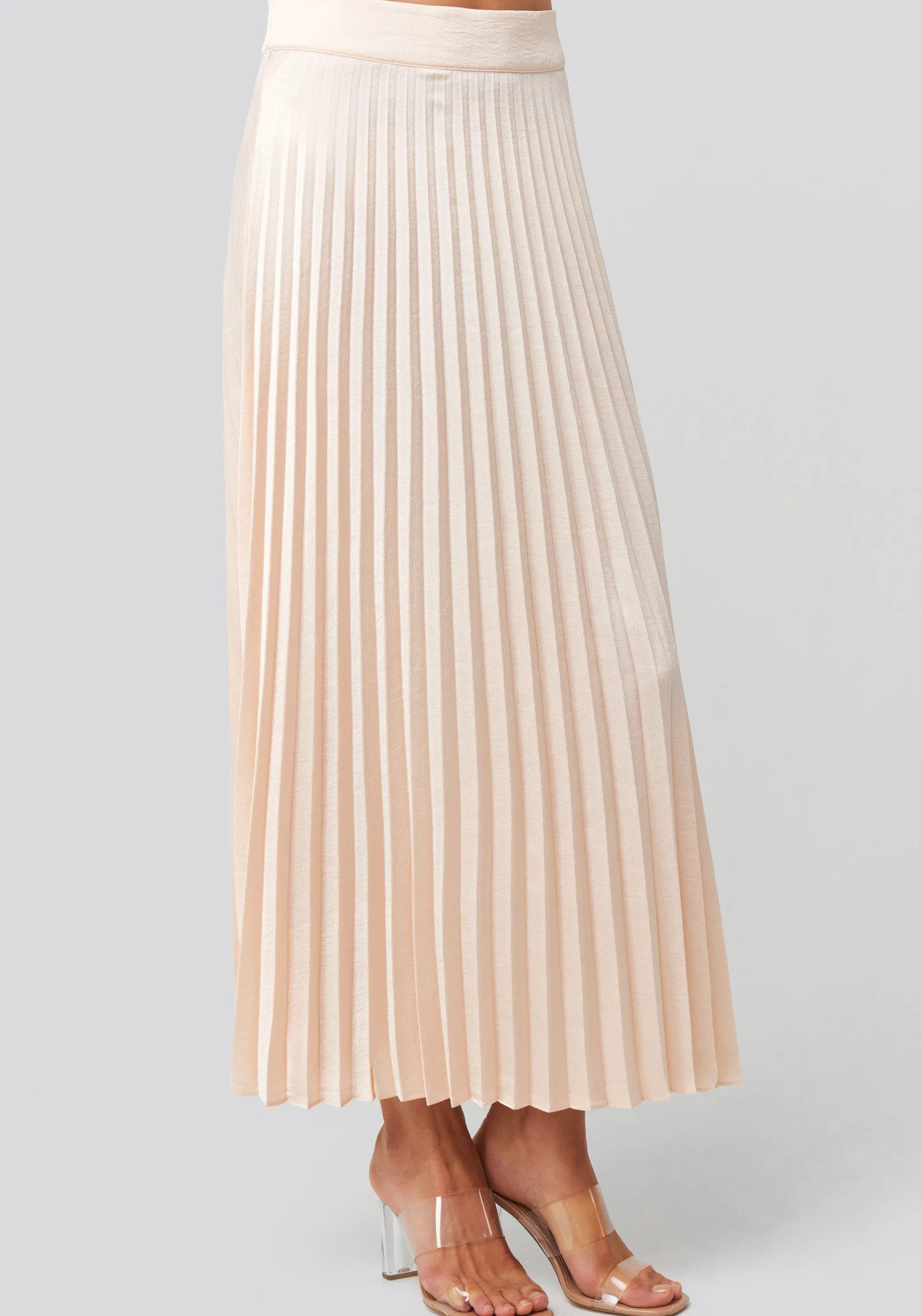 Bianca Long Skirt Light Beige, bottoms, Rut&Circle, LittleCuteCorner. - Belgian Woman Online Clothing Store