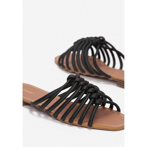 Black Summer Slippers, shoes, vices, LittleCuteCorner. - Belgian Woman Online Clothing Store