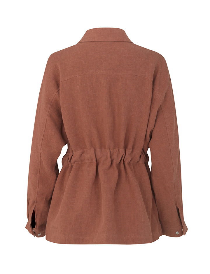 Maura Jacket - Rust - LittleCuteCorner.
