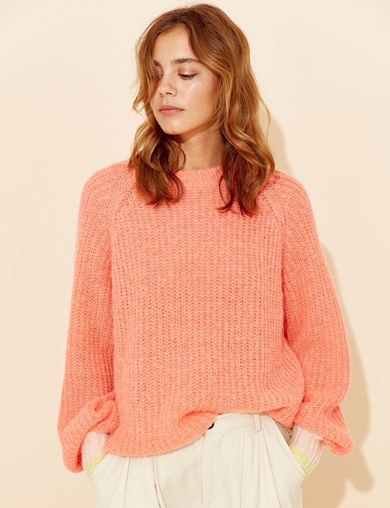 Jacki Knit - Koral, Top, mbyM, LittleCuteCorner. - Belgian Woman Online Clothing Store