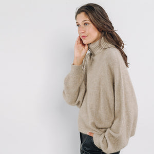 Romeo Sweater - Beige, Top, ARTLOVE, LittleCuteCorner. - Belgian Woman Online Clothing Store