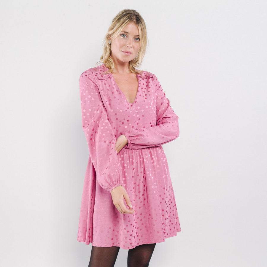 Florentin Dress - Pink - LittleCuteCorner.