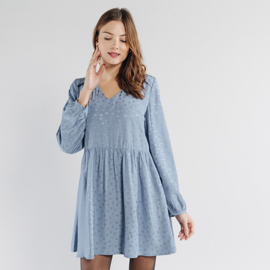 Florentin Dress - Blue - LittleCuteCorner.