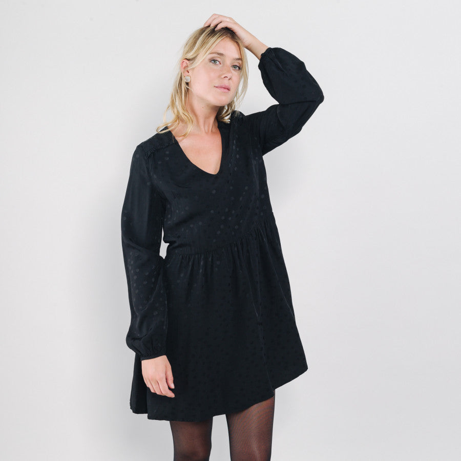 Florentin Dress - Black - LittleCuteCorner.