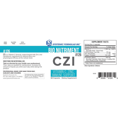Systemic Formulas: #126 - CZI - Vitamin C, Zinc, & Immune Support (Formerly known as CTV)