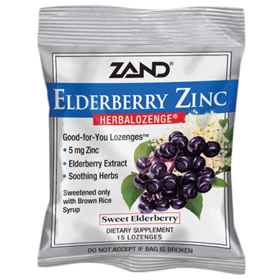 ZAND ELDERBERRY ZINC LOZENGES - 15 Lozenges per bag