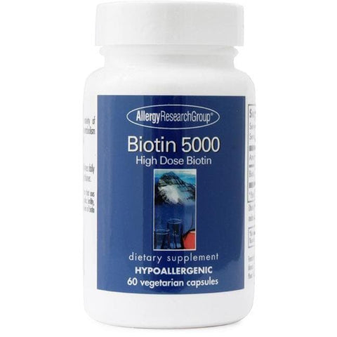 Allergy Research Group - Biotin 5000 mcg 60 veg capsules