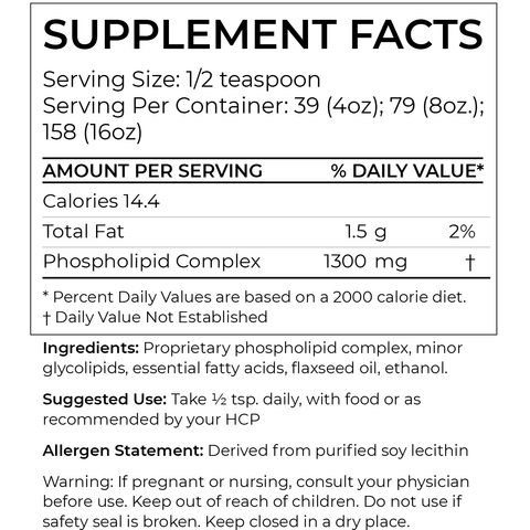 BodyBio - PC (Phosphatidylcholine) - Liquid (8oz.)