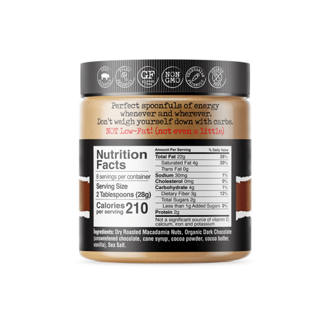 FBOMB -Salted Chocolate Macadamia Nut Butter (8-Ounce Jar)