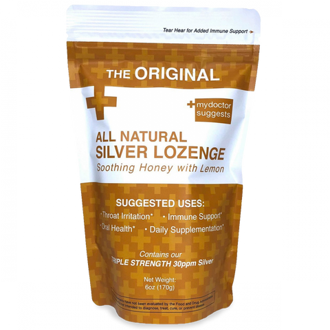 MDS - Silver Lozenges, Honey Lemon, 20 Count