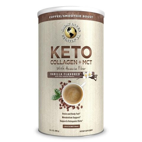 Great Lakes Keto Collagen + MCT - Vanilla 14.1oz