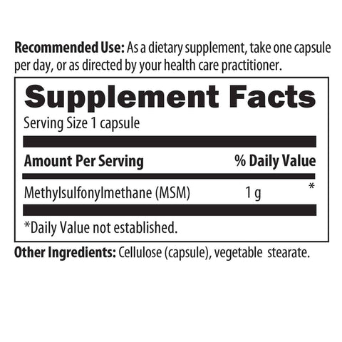 TCF - CytoMSM (formerly MSM) 1000 mg - 90 vegetarian capsules