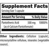DFH - Pantothenic Acid 500 mg 120 caps