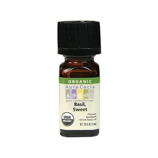Basil, Sweet Essential Oil Organic - 0.25 oz.