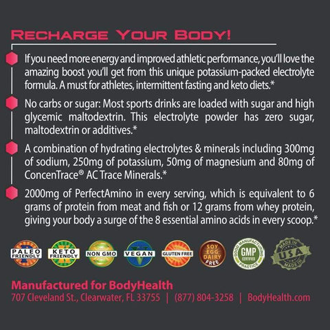 BodyHealth - PerfectAmino® Electrolytes - Watermelon Zen - 9.21 oz