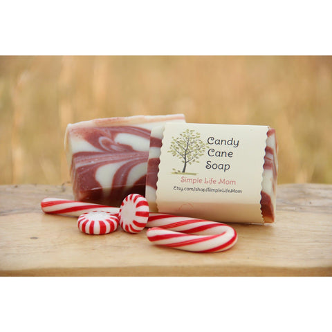 Simple Life Mom - Candy Cane Soap 4oz.
