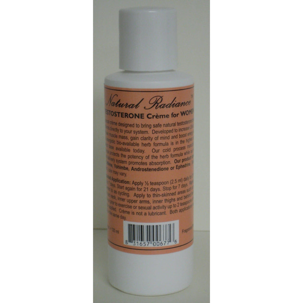 Natural Radiance™ Testo-Creme  for Women 4oz. bottle