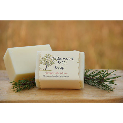 Simple Life Mom - Cedarwood and Fir Soap 4oz.