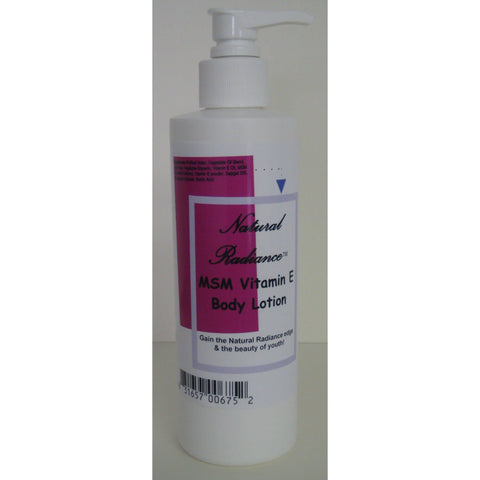 Natural Radiance™ MSM Vitamin E  Body Lotion 8 oz. pump bottle