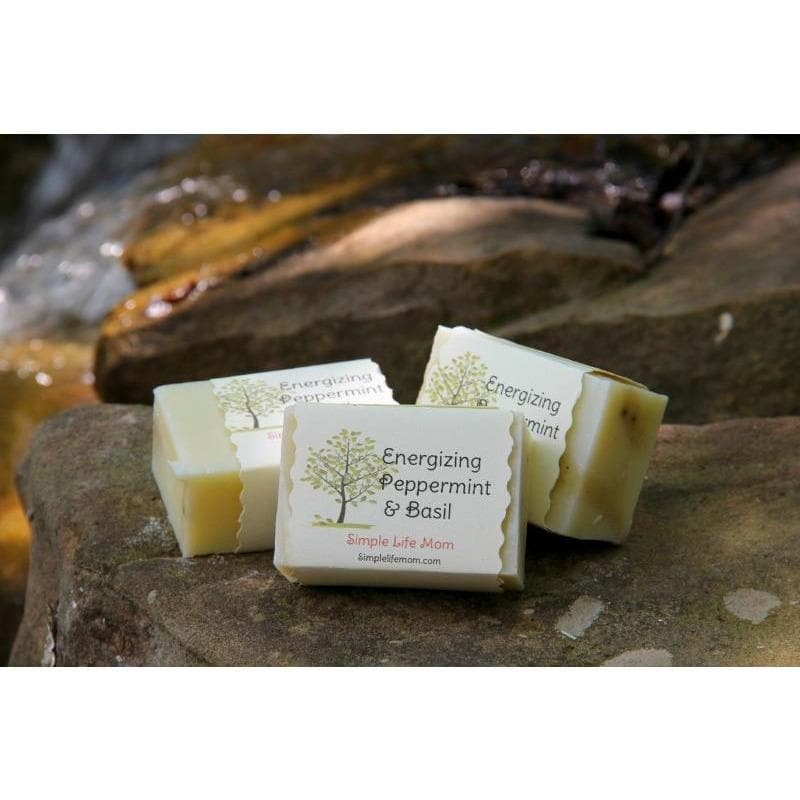 Simple Life Mom - Energizing Peppermint & Basil Bar Soap 4oz