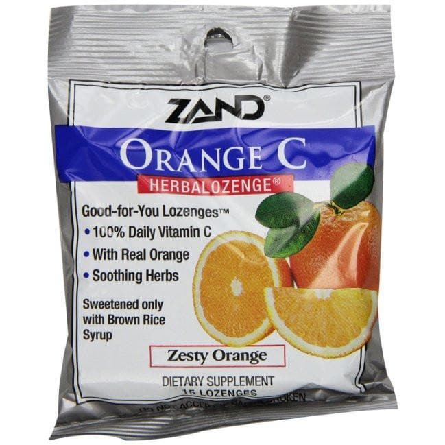 ZAND - Orange C HerbaLozenge® Zesty Orange - 15 ct. Cough Drops