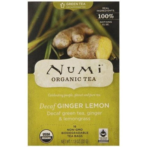 Numi - Decaf Ginger Lemon - 16 Tea Bags