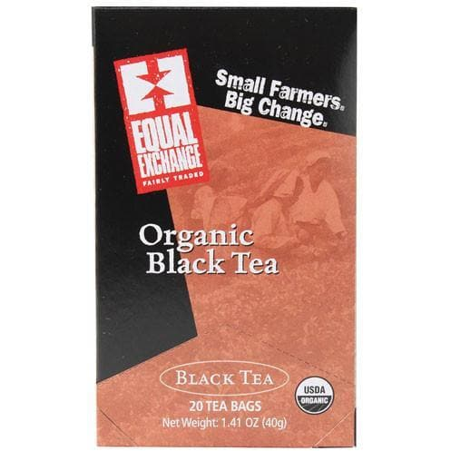 Equal Exchange - Organic Black Tea- 20 Tea Bags - 1.41oz