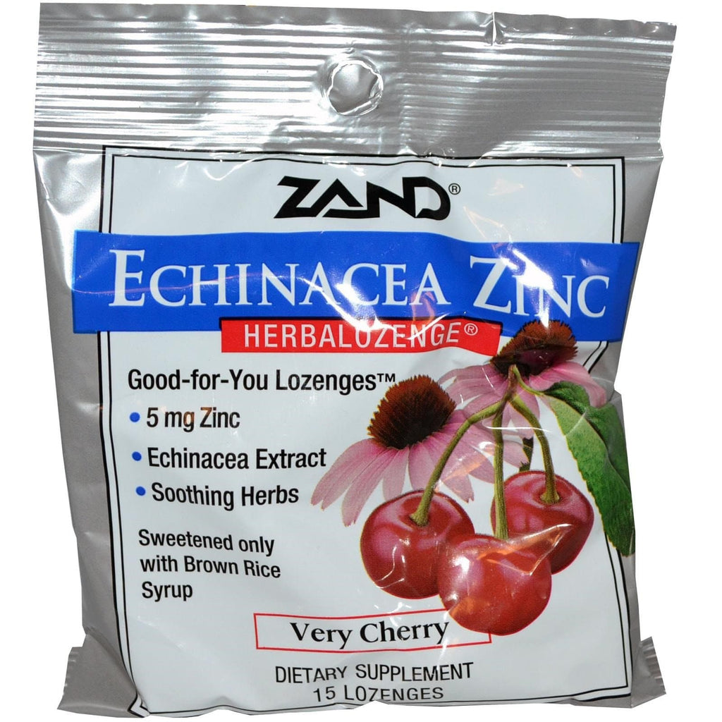 ZAND - Echinacea Zinc HerbaLozenge® Very Cherry - 15 ct. Cough Drops