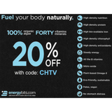 ENERGYbits® - 33 servings per bag - order at www.energybits.com 20% off PROMO CODE: CHTV