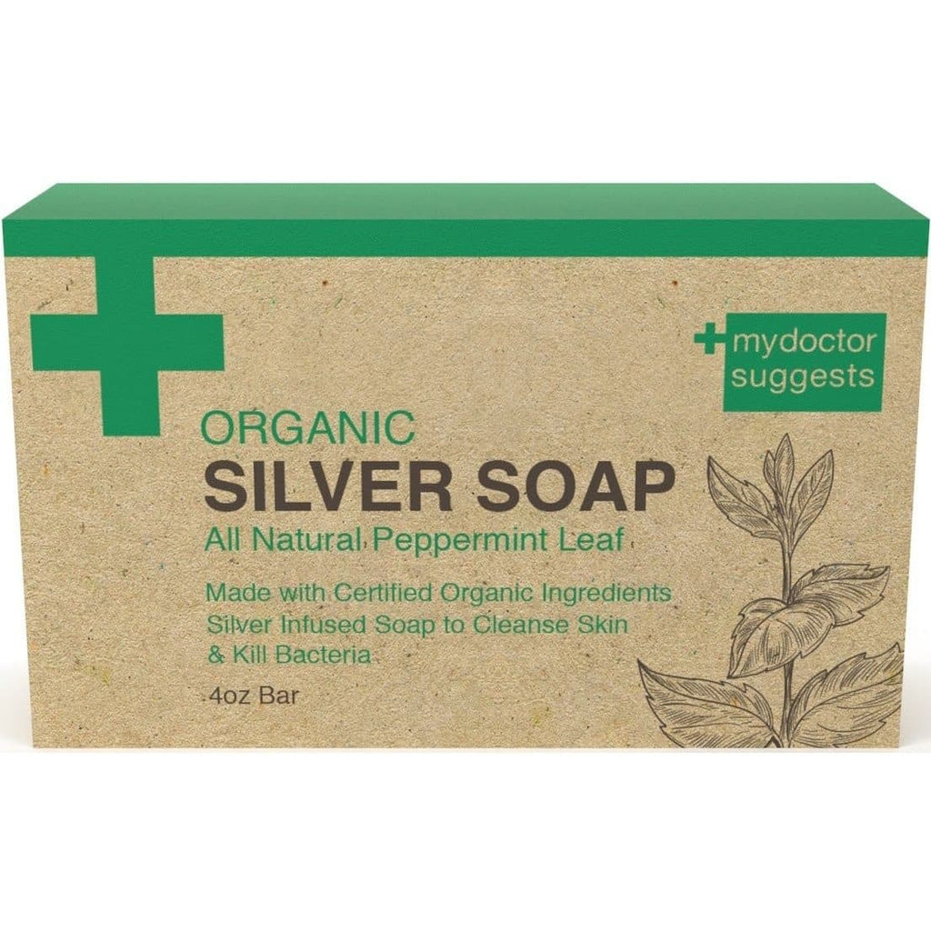 MDS - SILVER SOAP, ORGANIC PEPPERMINT, 4 OZ