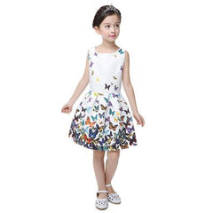 KIDS DRESS GIRL DRESS SUMMER STYLE SLEEVELESS PRINTED KIDS DRESSES GIRLS CLOTHES PARTY PRINCESS DRESS VESTIDOS CHRISTMAS