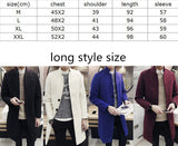 male winter stand collar single breasted brife slim Dust coat / men's solid color youyh pop plus velvet thick casual trench - CelebritystyleFashion.com.au online clothing shop australia