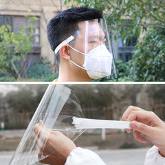 Transparent Protective Face Shield Protection Available