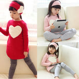 baby girls clothing sets spring/autumn fashion princess love pink/red long-sleeve T-shirts+ pants 3 pieces kids clothes for girl - CelebritystyleFashion.com.au online clothing shop australia