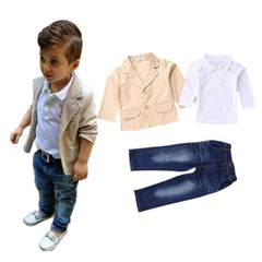 3pcs kids boys clothing sets coat jacket T-shirt pants 3 pcs fashion sports suit sets - CelebritystyleFashion.com.au online clothing shop australia