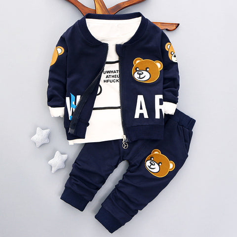 baby boys clothing set Autumn fashion style cotton coat with pants baby clothes A082 - CelebritystyleFashion.com.au online clothing shop australia