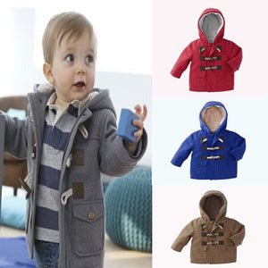 New Baby Boys Children outerwear Coat Kids Jackets for Boy Girls Winter Jacket Warm Hooded Children Clothing gray Khaki red - CelebritystyleFashion.com.au online clothing shop australia
