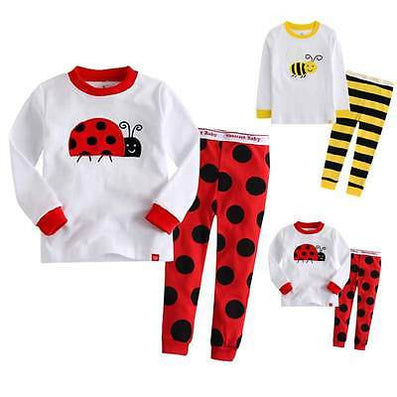 Fashion Kids Baby Children Cotton T-shirt Top+Pants Pajamas Set Sleepwear Outfit Clothing for 2-7y kid - CelebritystyleFashion.com.au online clothing shop australia