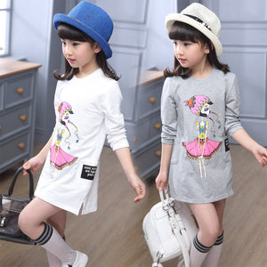 Childrens Designer Cartoon Girls Clothes Wear Teens Tops for Girls Brand Kids' Things Children's T-shirts Vetement Fille - CelebritystyleFashion.com.au online clothing shop australia