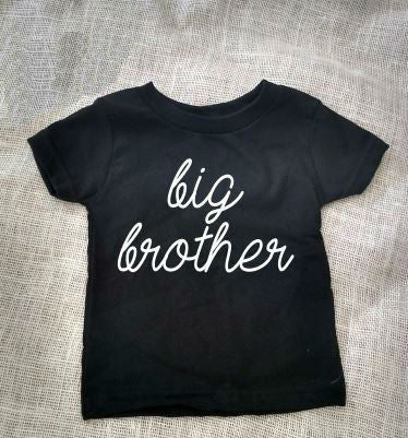f6253282b4f Big Brother Letter Print Kids t shirt Boy Girl Shirt Casual For Children  Toddler Funny Hipster