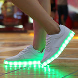 New 8 Colors LED Luminous Shoes Unisex Led Shoes for Adults Men&Women Glowing Shoes USB Charging Light - CelebritystyleFashion.com.au online clothing shop australia